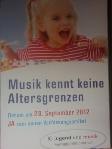 Werbeplakat &quot;Bundesbeschluss ber die Jugendmusikfrderung&quot;