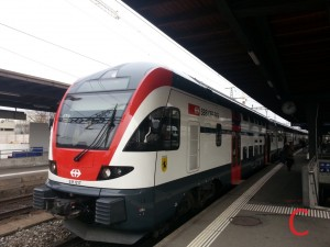 Durch die Zugskollision in Neuhausen gestrt: Der Bahnverkehr im Raum Schaffhausen (Im Bild: Stadler KISS RABe 511 als RE Schaffhausen-Zrich HB in Zrich Oerlikon)