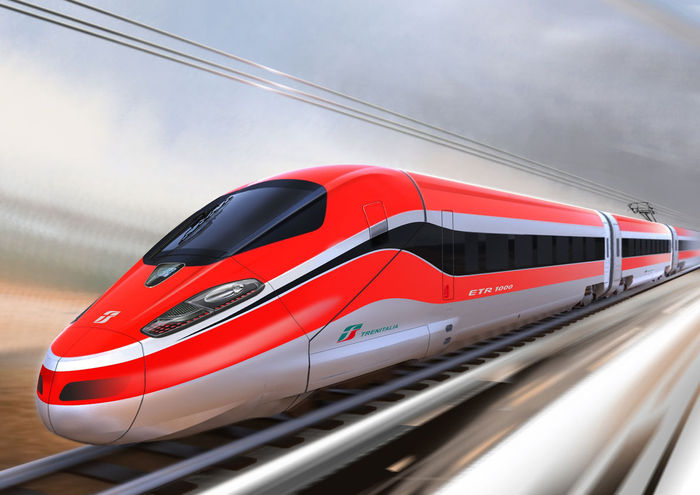 Der neue Stolz der Trenitalia: Der ETR 1000 (Copyright Bild: Bombardier Transportation)